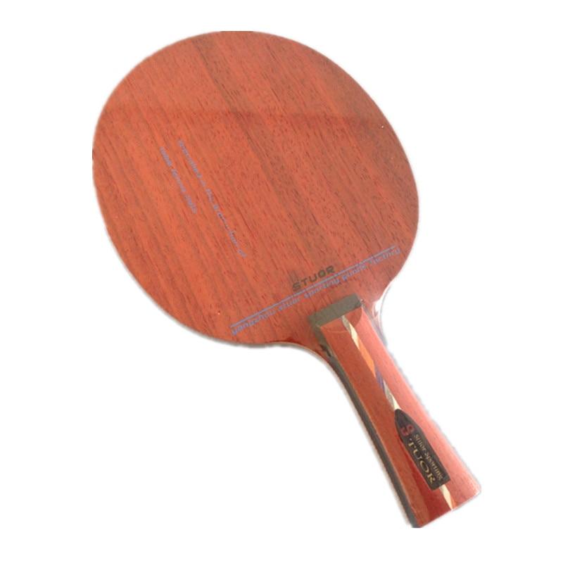Stuor Genuine Table Tennis Racket Floor 5 Layers Of Pure Wood Table Tennis Racket Red Rosewood Break Arc Type