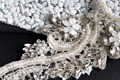 TOPQUEEN S180A Free shipping 100% Pure handmade Formal Wedding Crystal Rhinestone Embroider Applique Evening Dresses Trimming