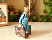 Retro Clockwork Tin Toys Rare Clockwork Tin Tizhexingli People Collection