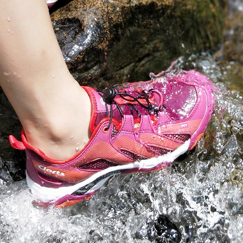Clorts De Natation Chaussures pour Femmes D'été À séchage Rapide Aqua Sneakers PU Chaussures pour la Plongée 3H028