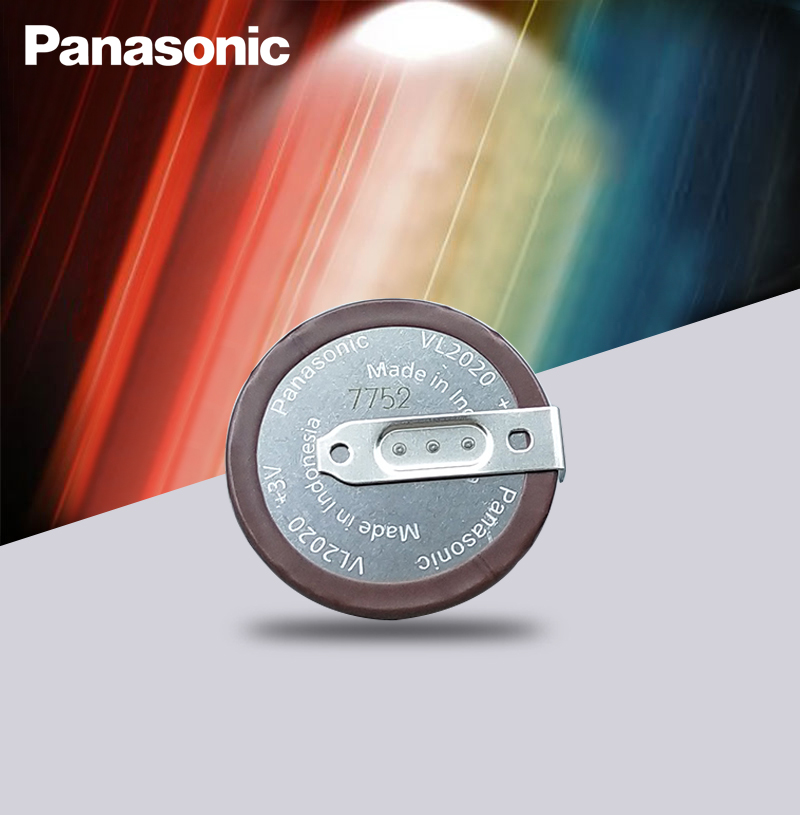 Panasonic Original VL2020 3V 20mAh Coin Type Rechargeable 90 Degrees Fillet Lithium Button Cell Battery