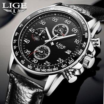 LIGE New Fashion Sport Watch Mens Watches Top Brand Luxury Quartz Watch Men Waterproof Business Wrist Watch Relogio Masculino lige horloge 2017