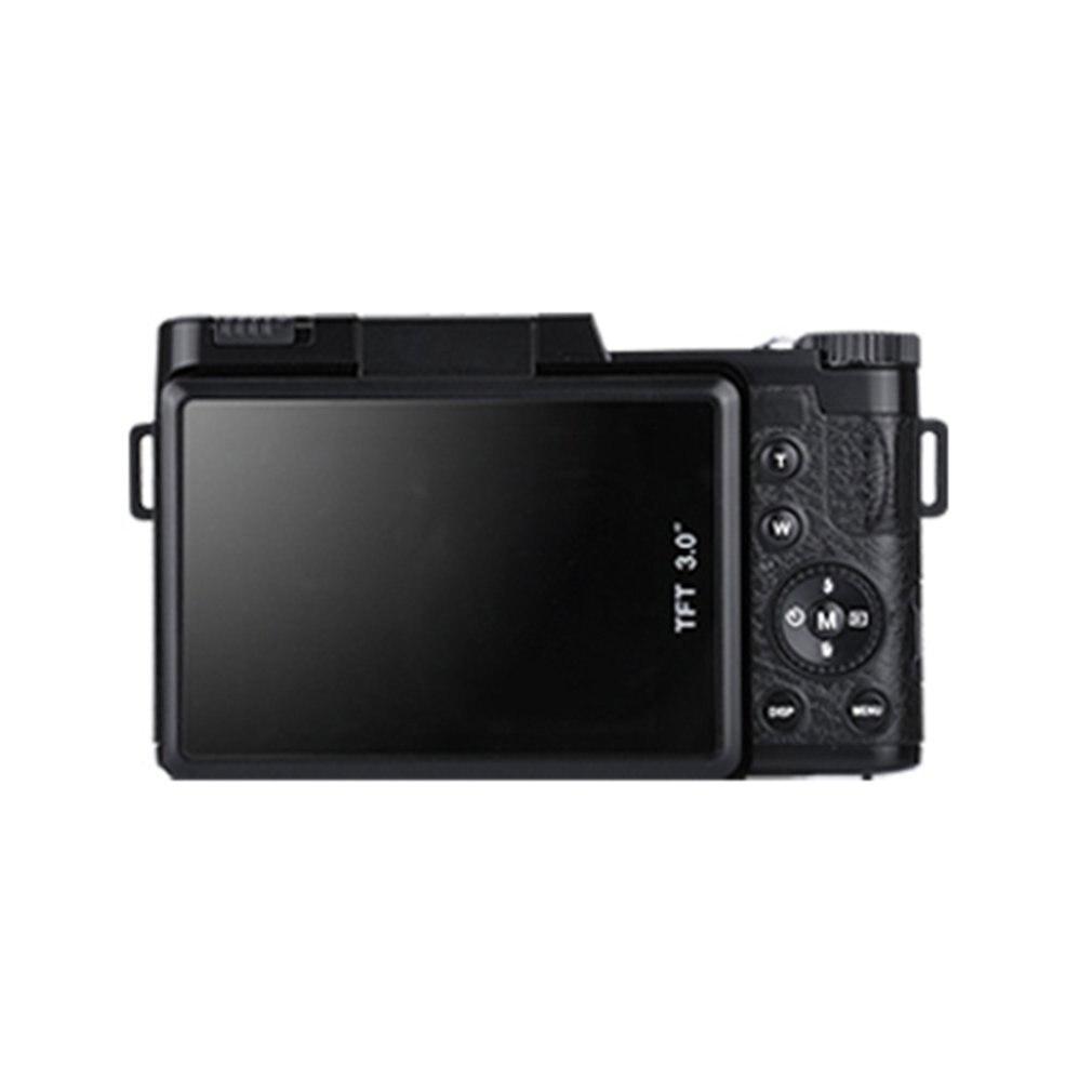 Professionnel 3.0 pouce LCD Affichage 1080 p Vidéo Numérique Caméra 4X Zoom 24MP Écran Rotatif Selfie Appareil Photo Numérique Noir