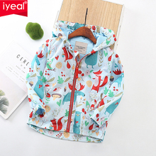 IYEAL Baby Girls Boys Jacket 2019 Autumn Spring For Trench Kids Outerwear Windbreaker Children Clothes