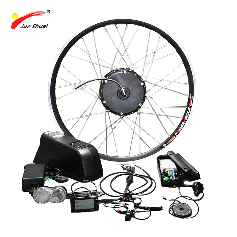 48V 500W Electric Bike Conversion Kit with Lithium Battery Hub Motor Wheel Electric Bicycle 26 700C