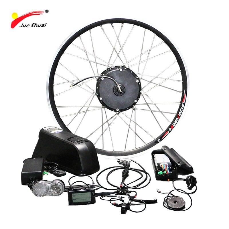 Jueshuai Бесплатная доставка 48 В 500 Вт Электрический велосипед Conversion Kit с литиевой Батарея ЖК-дисплей Дисплей 26 700C Ebike мотор колеса велосипеда