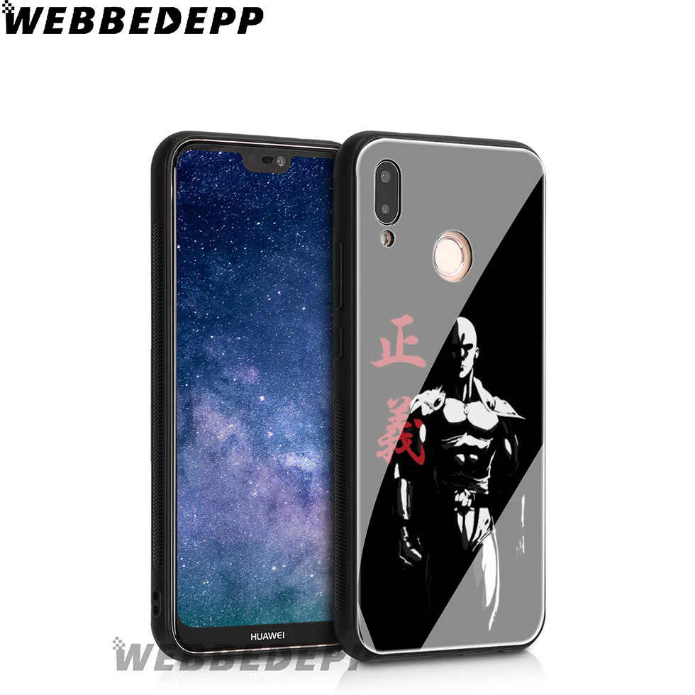 WEBBEDEPP un golpe hombre de dibujos animados de vidrio templado para Huawei Mate 20 P20 P10 P Smart 2019 de 2018 y Honor 10 9 8X 7A Lite Pro