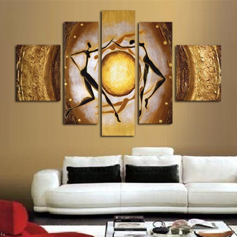 3 panel canvas art triptych paintings Purple flower
