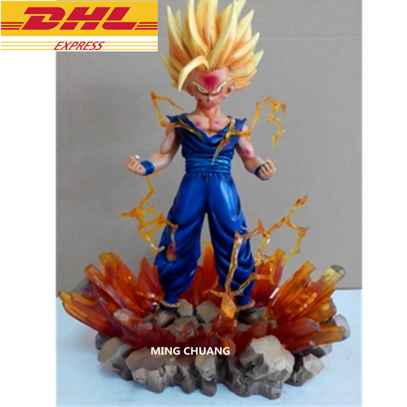 Dragon Ball Z Statue Super Saiyan Son Gohan Bust Son Goku Son Full-Length Portrait GK Action Figure Collectible Model Toy D256 the son gohan dragon ball z action figure model 20cm pvc son goku figure toys for collection kids toy
