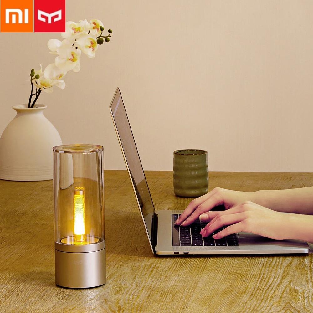 Xiaomi Mijia Yeelight Smart Candle Light Indoor Yeelight Night Table Light Bedside Lamp Remote Touch Control Smart App Bluetooth yeelight ночник светодиодный заряжаемый с датчиком движения