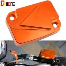 Orange Motorcycle Accessaries CNC Aluminum Alloy Front Brake Fluid Reservoir Cover Cap Suit For KTM DUKE 125 200 390 цена