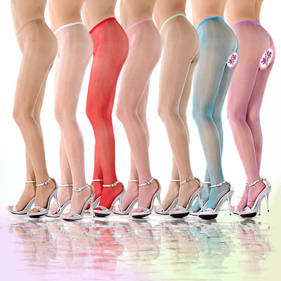 10D Colorful Oil Shine Close Or Sheer Crotch Pantyhose Sexy Tights Socks Sheer To Waist And Through Body Sandal Toe DOYEAH 0148