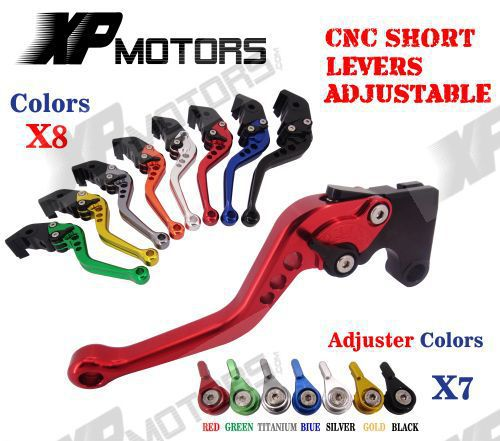 CNC Short Adjustable Brake Clutch Levers For MOTO GUZZI V7 Classic 2008-2014 motofans cnc clutch brake levers adjuster for moto guzzi stelvio 2008 2015 norge 1200 gt8v griso 06 07 08 09 10 11 12 13 14 15