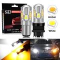 2PCS Switch Led-lampe Für Blinker/DRL Auto Licht T20 Led 7443 W21/5W 1157 BAY15D P21/5W T25 3157 P27/7W Bernstein Weiß Lampe