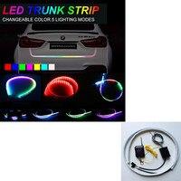 120cm 150cm Wireless Remote RGB Changing LED Strip Rear Trunk Light RED Yellow Car Brake Turn