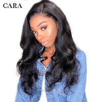 Silk Base Wig Brazilian Pre Plucked Lace Front Human Hair Wigs 130 Density Body Wave Lace Wig For Women With Baby Hair Remy CARA