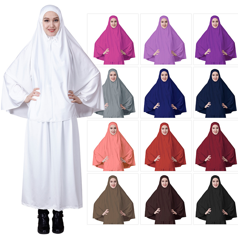 Muslim Women Islamic Long Abaya hijab Dress Middle East Robe With Scarf African Dresses For women ropa mujer 2019