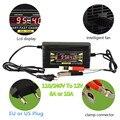 Completo Cargador Automático de Batería de Coche 110 V/220 V A 12 V 6A 10A Inteligente rápido de Carga de Energía Para Seco Y Húmedo de Plomo Digital Pantalla LCD