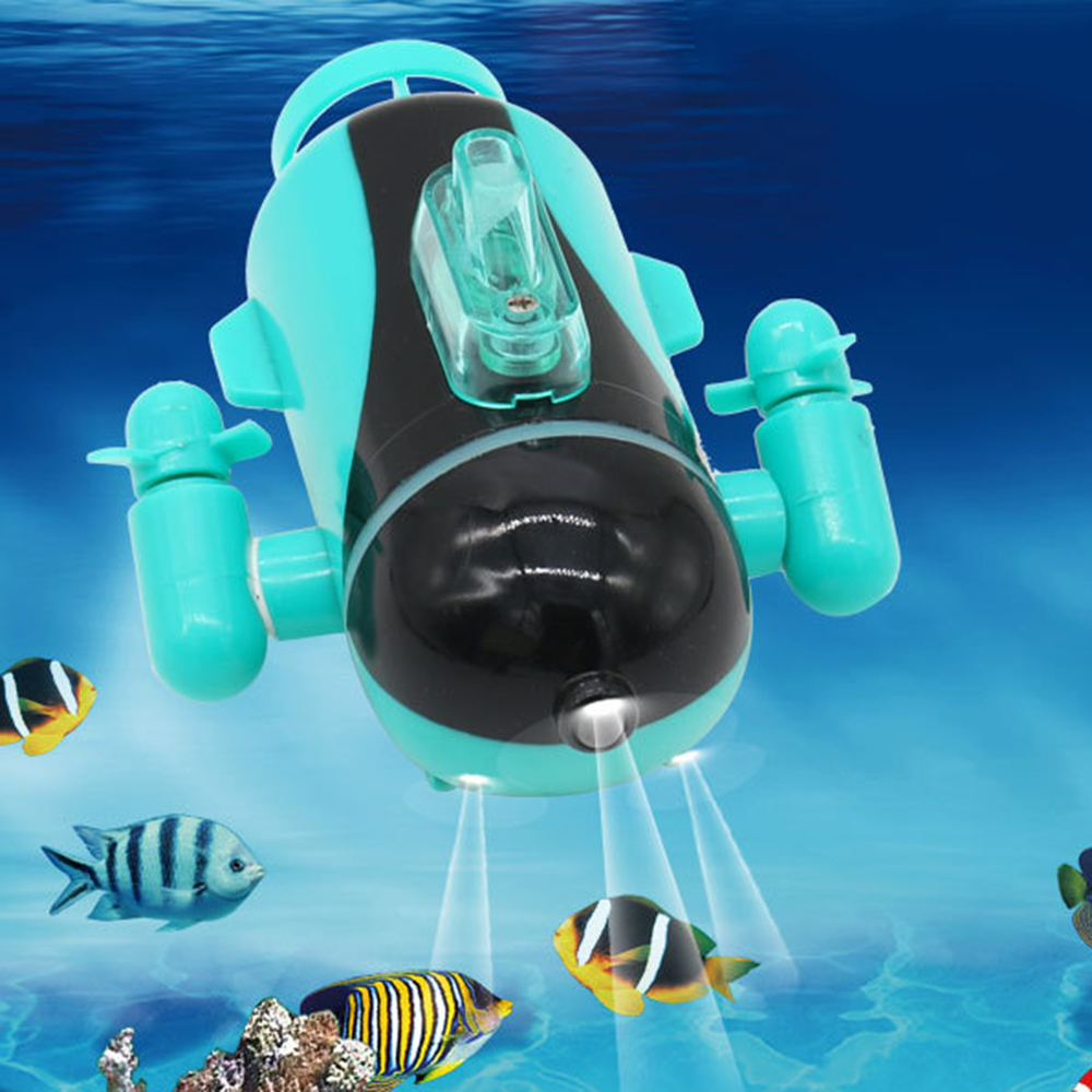 1pc Mini Funny RC Submarine Electronic Remote Control Paddling Submarine Model Toys Wireless Charging For Toddlers Children Gift