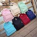 2016 fashion women's backpack solid color backpack for teenage girls schoolbag small travel bag pink color mochila feminina
