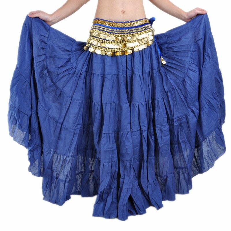 e35b021c0e 16 kolory Tribal Belly Dance Wydajność Kobiety Gypsy Taniec Pełne Koło  Pościel Spódnica Kobiety Taniec Brzucha Gypsy Spódnice