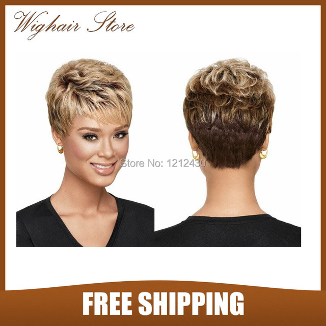 Hot sale Pixie cut haircut Synthetic wigs Free shipping Short hair ...
