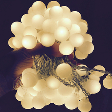 220/110V 10M 100 LED Cherry Ball String Lights Holiday Wedding Christmas Outdoor Garland Home Decoration Night lamp Fairy Lights