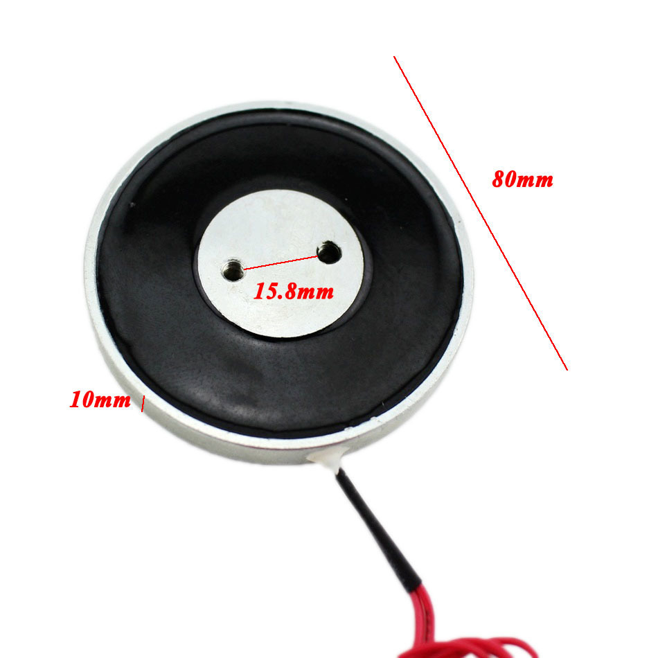 80*10 mm Holding Electric Magnet Lifting 25KG/250N Solenoid Sucker License plate Electromagnet DC 12V 24V Non-standard custom