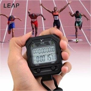 Спортивный секундомер для бега, цифровой Ручной таймер с таймером, программируемый таймер для бега, часы с будильником для мужчин