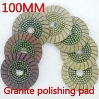 Free Shipping 7pcs Lot Polishing Pads 4 Inches 100mm Granite Polishing Pads Diamond Polishing Pad Diamond