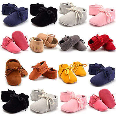 Emmababy 0-18M Newborn Baby Fisrs Walkers Shoes Toddler Infant Moccasin Baby Girls Shoes Soft Sole Boots Prewalker