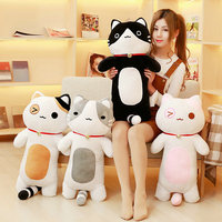 80cm kawaii cat pillow stuffed plush cat plush toys PP Cotton cloth doll 2018 New Style Christmas present kids toys