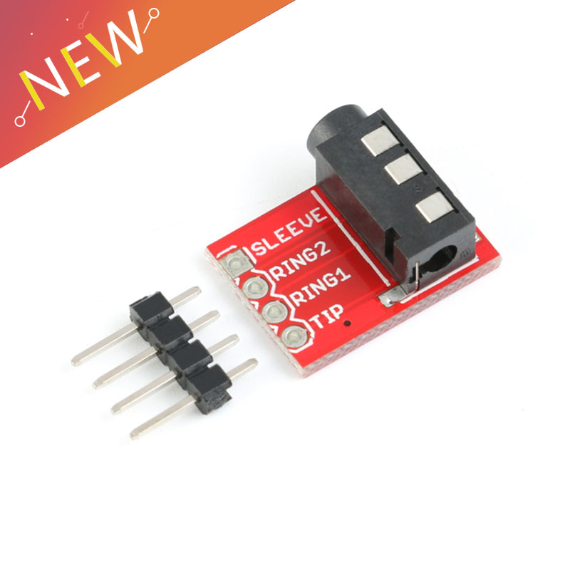 <font><b>3.5mm</b></font> <font><b>Plug</b></font> Jack Stereo Plastic + Metal <font><b>TRRS</b></font> Headset Audio Socket Breakout Board Extension Connector Module image