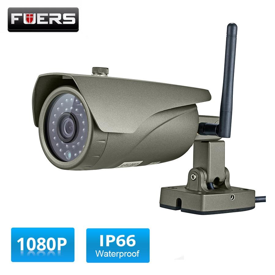 Здесь можно купить  Fuers Full HD 1080P Real-time Viewing WIFI IP Camera P2P 2.0MP Waterproof Outdoor Onvif Surveillance Camera with HDMI VGA Output  Безопасность и защита