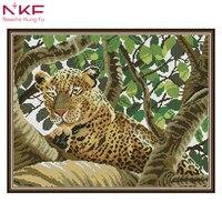 5D DIY diamond leopard pattern Cross Stitch diamond painting square animal embroidery beads patterns picture of rhinestones