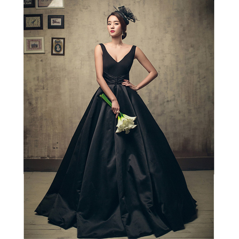 Black Wedding Host Dresses : Popular black wedding dresses buy cheap lots