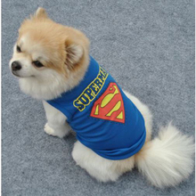 Fashion Summer Breathable Cotton Superman Pattern Dog Clothes Sport Style Vest T-shirt With Patterned Pet Clothing DC42