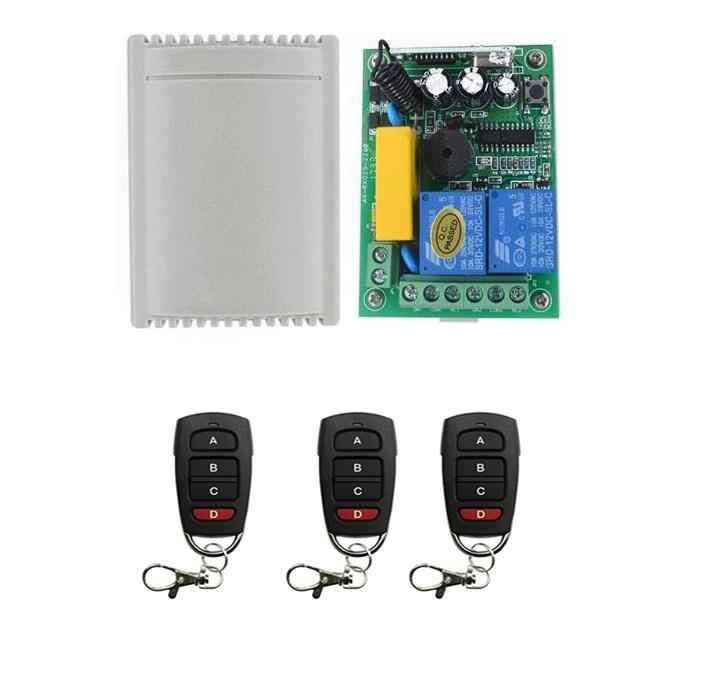 Precio de fábrica AC 220 V RF 2CH Control remoto inalámbrico 1 * RECEPTOR + 1 ~ 3 * transmisor tubular motor garaje puerta proyección pantalla