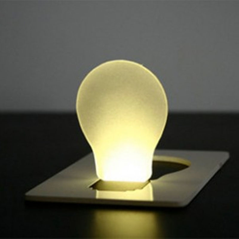 LED Card Light Portable Color Business Card Light Night Light Portable Emergency Light/wallet Lamp