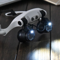 10x 15x 20x 25x Multi Power Wearing Glasses Eyes Lighted Magnifying Glasses Watch Repairing Loupe