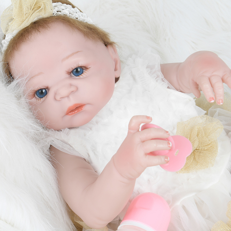 Soft Body Silicone Reborn Baby Doll Toy For Girls New Born Baby Birthday Gift To Child Bedtime Early Education Christmas Gift