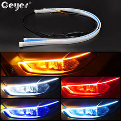 Ceyes 2 шт. авто лампы для мотоциклов автомобилей DRL светодио дный габаритные огни автомобиля средства укладки волос поворотов