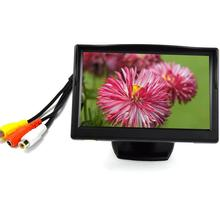 HD TFT LCD 5 inch Digital Screen Monitor Image Transfer Auto matically Monitor car-detector Rearview Camera Multi-language