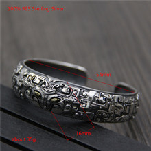 100% 925 Sterling Silver Unique Bracelet Bangle Women Oppen for Men Personality Jewelry