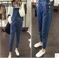 12-13-14-15-16-18-year-old студентка junior high девушки весной джинсовой ремешок брюки Сиамские trousers-dod329