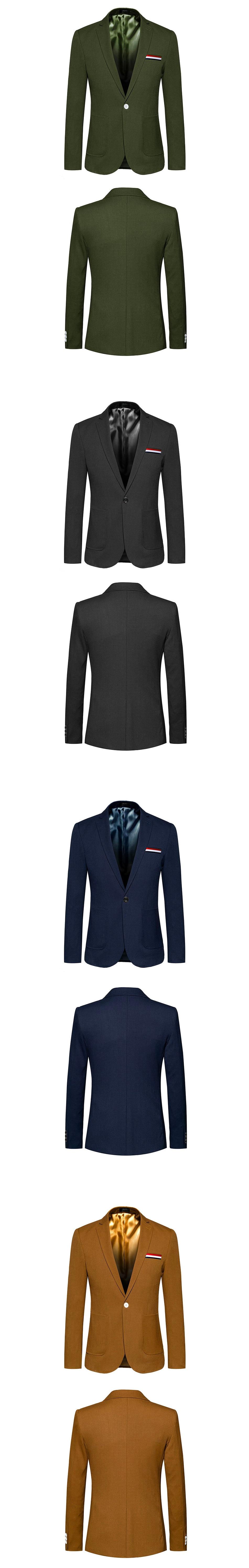 ab05af58489 Men Causal Blazers One Button High Quality Jackets Big Size 5XL 6XL ...