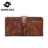 Men Genuine Leather Wallets Mens Wallet with Coin Bag Zipper Small Money Purses New Design Dollar Slim Purse Money Clip Wallet