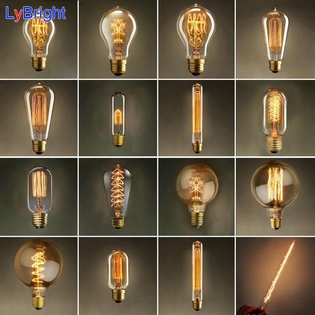 Buy Incandescent Bulb E27 40w Ac 110v T45 Tungsten: Vintage Edison Bulb AC 110V/220V E27 Retro Incandescent