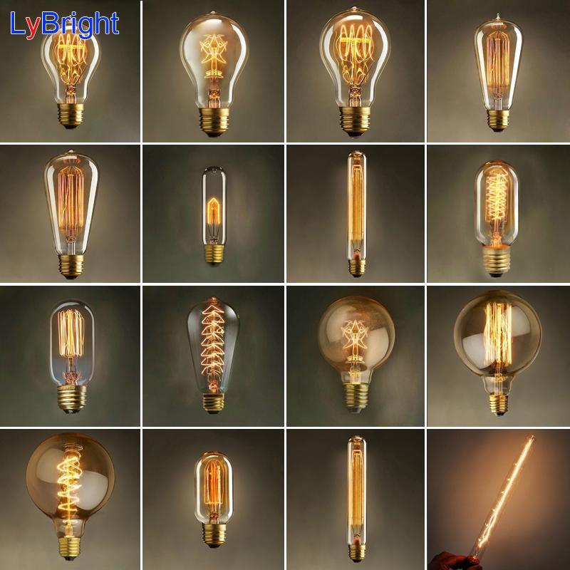 Vintage Edison Birne AC 110 V 220 E27 Retro Glhlampe Lampen Fr Wohnzimmer Schlafzimmer Esszimmer Wohnkultur Grosshandel