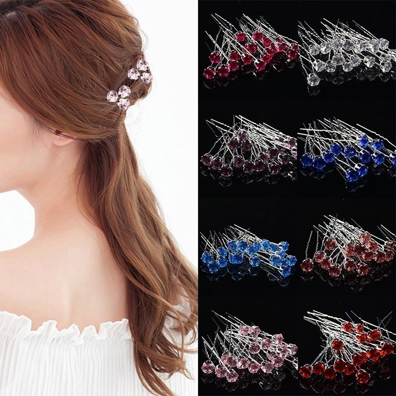 Hair Accessories Bride Crystal 10Colors Elegant Hair Clip Hot Sale Fashion 10PCS/Set Top Grade Exquisite Korean
